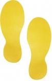 Marcaj autoadeziv pentru podea forma pantof 90 x 240 mm galben 5 perechi/set Durable