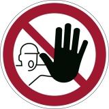 Marcaj autoadeziv pentru podea Intrarea interzisa Durable