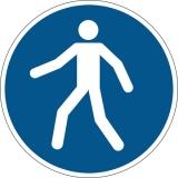 Marcaj autoadeziv pentru podea Utilizati zona pietonala Durable