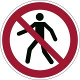 Marcaj autoadeziv pentru podea Interzis pietonilor Durable