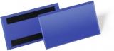 Buzunar magnetic pentru etichete 150 x 68 mm albastru 50 buc/set Durable