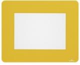 Marcaj autoadeziv pentru podea, forma dreptunghi A5, nepermanent, galben 10 buc/set Durable