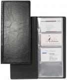 Clasor pentru 128 carti de vizita Visifix negru Durable
