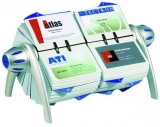 Suport rotativ pentru carti de vizita Visifix Flip Duo argintiu Durable