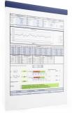 Banda magnetica autoadeziva Durafix Rail 210 mm albastru 5 buc/set Durable