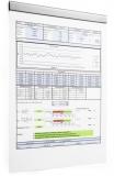 Banda magnetica autoadeziva Durafix Rail 210 mm argintiu 5 buc/set Durable