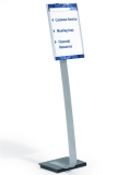 Stand cu panou de informatii Info Sign, A3, argintiu Durable