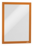 Rama magnetica autoadeziva Duraframe, A4, portocaliu, 2 buc/set Durable