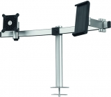 Suport extensibil monitor si tableta, VESA, prindere in masa, argintiu Durable