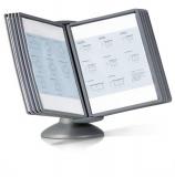 Sistem de prezentare pentru birou Sherpa Motion 10 panouri gri inchis Durable