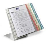 Sistem de prezentare pentru birou Function 20 display-uri A4 culori asortate Durable