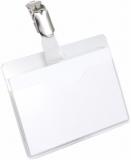 Ecuson transparent clip rotativ 60 x 90 mm 25 buc/set Durable