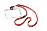 Ecuson cu snur textil rosu 10 buc/set Durable