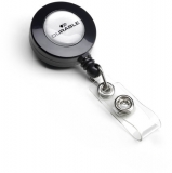 Dispozitiv cu snur retractabil si cu clip metalic pentru ecuson Durable