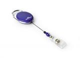 Dispozitiv cu snur retractabil pentru card forma ovala bluemarin 10 buc/set Durable