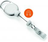 Dispozitiv cu snur retractabil pentru ecuson, Extra Strong, alb Durable