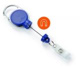Dispozitiv cu snur retractabil pentru ecuson, Extra Strong, albastru Durable