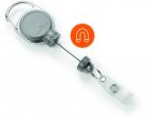 Dispozitiv cu snur retractabil pentru ecuson, Extra Strong, argintiu Durable