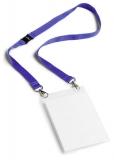 Ecuson A6 cu buzunar carti de vizita si snur textil albastru 10 buc/set Durable