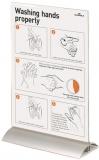 Panou prezentare A4, pentru masa, transparent Durable