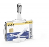 Suport card simplu cu protectie RFID argintiu 10 buc/set Durable