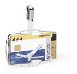 Suport card dublu cu protectie RFID argintiu 10 buc/set Durable