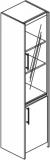 Dulap inalt 1 usa cu geam 420 x 410 x 1840 mm