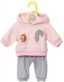 Dolly Moda - Set Bluza Roz Si Pantaloni 43 Cm Zapf