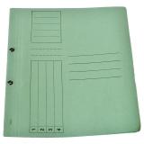 Dosar carton color, verde, cu capse, coperta 1/1, tip L