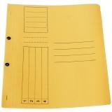 Dosar carton color, galben, cu capse, coperta 1/1, tip L