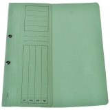 Dosar carton color, verde, cu capse, coperta 1/2, tip L
