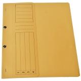Dosar carton color, galben, cu capse, coperta 1/2, tip L