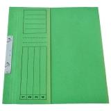 Dosar incopciat din carton 1/2 verde tip L