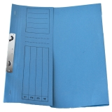 Dosar incopciat din carton 1/2 albastru tip L