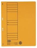 Dosar carton color, galben, cu capse, coperta 1/1 Elba