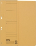 Dosar carton color, galben, cu capse, coperta 1/2 Elba