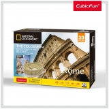 Puzzle 3D+Brosura-Colosseum 131 Piese Cubicfun