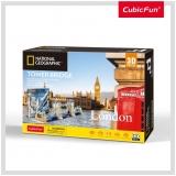 Puzzle 3D+Brosura-Tower Bridge 120 Piese Cubicfun