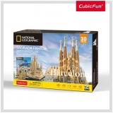 Puzzle 3D+Brosura-Sagrada Fam CubicFun