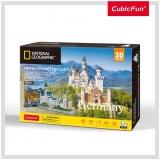 Puzzle 3D+Brosura-Castelul Neuschwanstein 121 Piese Cubicfun