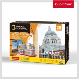 Puzzle 3D+Brosura-Catedrala St. Paul 107 Piese Cubicfun