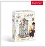 Puzzle 3D Harry Potter - Banca Gringotts 74 Piese Cubicfun