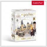 Puzzle 3D Harry Potter-Castelul 197 Piese Cubicfun