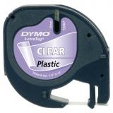 Banda Letratag plastic 12mm x 4m transparent Dymo