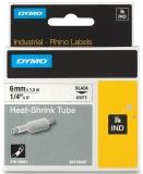 Tub termocontractibil ID1 6 mm x 1.5 m negru-alb Dymo