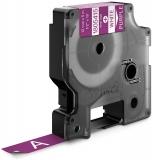 Banda ID1 Vinyl 12 mm x 5.5 m Dymo alb-violet