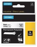 Banda ID1 polyester permanent 6 mm x 5.5 m negru-transparent Dymo