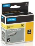 Tub termocontractibil ID1 9 mm x 1.5 m negru-galben Dymo