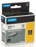 Tub termocontractibil ID1 12 mm x 1.5 m negru-alb Dymo