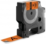 Banda ID1 Vinyl 19 mm x 5.5 m Dymo negru-portocaliu